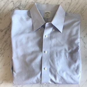 Brooks brother light blue button down shirt